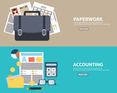 Business accounting and paperwork vector illustration