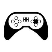 Game control with navigation buttons video game entertainment device  vector illustration