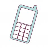 Mobile phone icon over white background cellphone device vector illustration