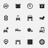 Set Of 16 Editable Car Icons Includes Symbols Such As Automobile Vehicle Wash Speed Display And More Can Be Used For Web Mobile UI And Infographic Design