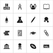 Set Of 16 Editable Science Icons Includes Symbols Such As Graduate Victory Medallion Math Tool And More Can Be Used For Web Mobile UI And Infographic Design
