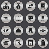 Set Of 16 Editable University Icons Includes Symbols Such As First Place Victory Medallion Literature And More Can Be Used For Web Mobile UI And Infographic Design