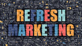 Refresh Marketing in Multicolor. Doodle Design.