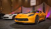 Detroit, Mi/Usa - 11 gennaio 2015: Due Lingenfelter Chevrolet Corvette C7 automobili presso la Galleria, un evento sponsorizzato da North American International Auto Show (Naias) e il Mgm Grand Detroit