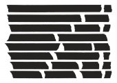 This image is a illustration and can be scaled to any size without loss of resolution Tape Lines Black Set 01