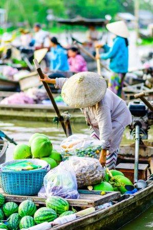 schwimmen markt auf dem mekong can