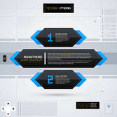 Modern web design template with options/banners Futuristic techno business style Useful for annual reports presentations and advertising