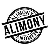 Alimony rubber stamp Grunge design with dust scratches Effects can be easily removed for a clean crisp look Color is easily changed
