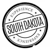 South Dakota rubber stamp Grunge design with dust scratches Effects can be easily removed for a clean crisp look Color is easily changed