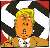 Dec 27 2016 Cartoon caricature of President Elect Donald Trump as an orange colored Nazi leader