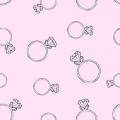 Pink pattern from the diamond ring Seamless