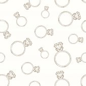 Beige pattern from the diamond ring Seamless