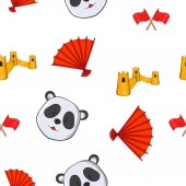 China pattern Cartoon illustration of China vector pattern for web
