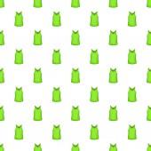 Green men t-shirt pattern Cartoon illustration of green men t-shirt vector pattern for web