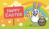 Összetétele húsvéti nyuszi, tojás és kosár