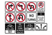 Road signs in the United States R3 Series: Lane Usage and Turns Vector Format