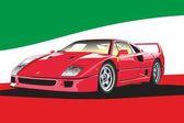 Legendary Italian red sports car