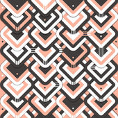 Geometric patterns of black pink white which suits the atmosphere of valentine's day