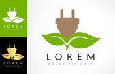 Eco Electricity logo Green power