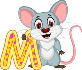 Lustige Maus Cartoon posiert