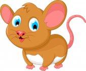 Lustige dicke Maus Cartoon posiert