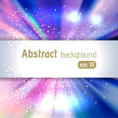 Sunburst background with glittering stars Beautiful rays of light Vector illustration Pink blue white colors