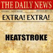 Hitzschlag, Zeitung Artikeltext