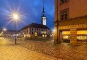 Noční pohled na radnici v Olomouci