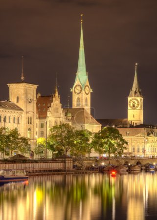 night in zurich switzerland