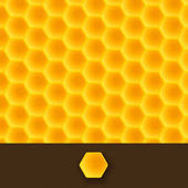 Illustration of realistic gold color honeycomb background with brown bottom