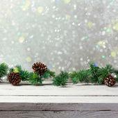 Vánoční dovolená pozadí