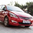 Постер, плакат: Red Hyundai Solaris
