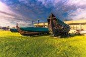 04. prosince 2016: Repliky vikingských čluny v Roskilde muzeum Viking lodi