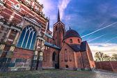 4. Dezember 2016: Die Kathedrale des Heiligen Lukas in Roskilde, Denm