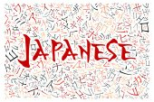 Creative japanese alphabet texture background