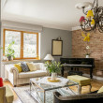 Постер, плакат: Living room full of interior architecture styles