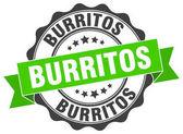 Burritos stamp sign seal