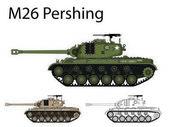 American WW2 AFV M26 Pershing