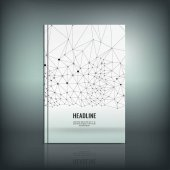 Vector abstract brochure cover template Modern background for poster print flyer book booklet brochure and leaflet design Editable graphic image in black grey and white metallic colors