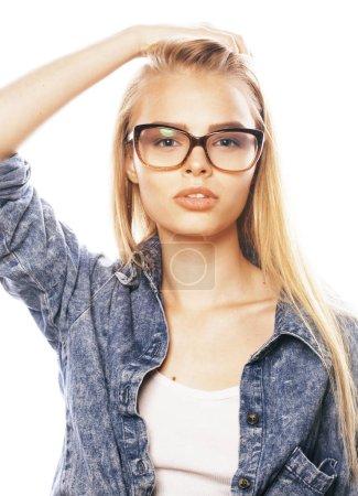 Teen babe Tatiana Kush looks so cute and innocent in glasses № 39296 бесплатно