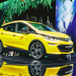 Постер, плакат: Paris France September 29 2016: 2017 Opel Ampera e presented on the Paris Motor Show in the Porte de Versailles