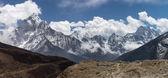 Horská krajina ze Thukla vesnice, Everest region