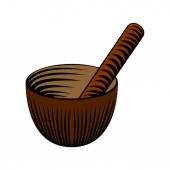 Isolated icon of a mortar and a pestle Spa Vector illustration