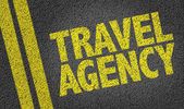 Yellow sign travel agency