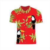 Vector illustration Hawaiian aloha shirt Hawaii shirt aloha beach male cloth Clothing pattern design and modern flat hawaii shirt textile