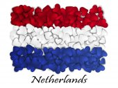 Flag Love Netherlands Flag Heart Glossy With love from Netherlands Made in Netherlands Netherlands national independence day Sport team flag Amsterdam