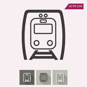 Metro vector icon Illustration isolated for graphic and web design