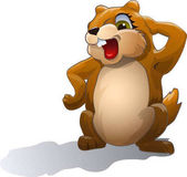 Groundhog who looks at his shadow Vector Image