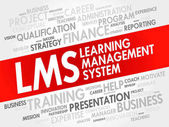 Learning Management System (LMS) word cloud collage business concept background