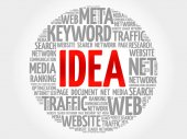 IDEA word cloud collage business concept background